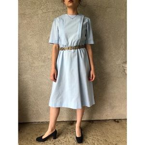 VINTAGE | Minimalist dress with pleats and a-line